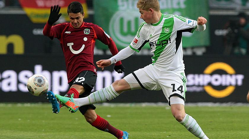 Kevin de Bruyne não teve certamente a estreia que gostava, tendo sido derrotado pelo Hannover 96 / Fonte: Vfl-wolfsburg.de