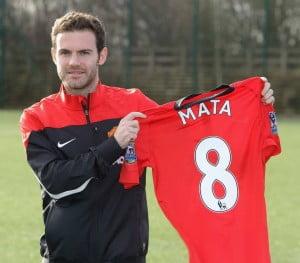 Juan Mata assinou pelo United