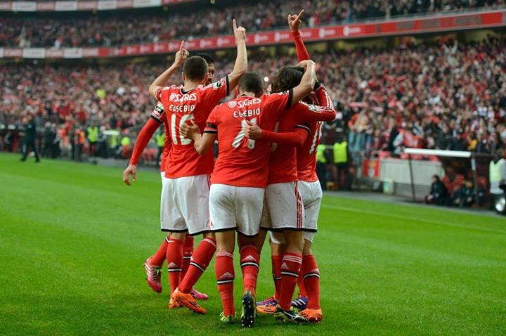Finalmente...celebrar frente ao FC Porto Fonte: Facebook do Benfica