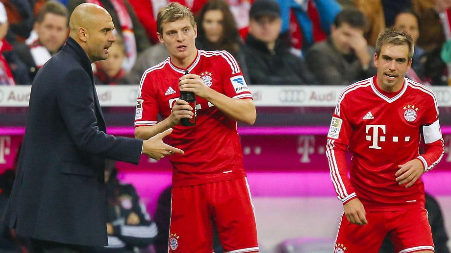 Lahm e Kroos são fundamentais para Guardiola Fonte: bundesliga.de