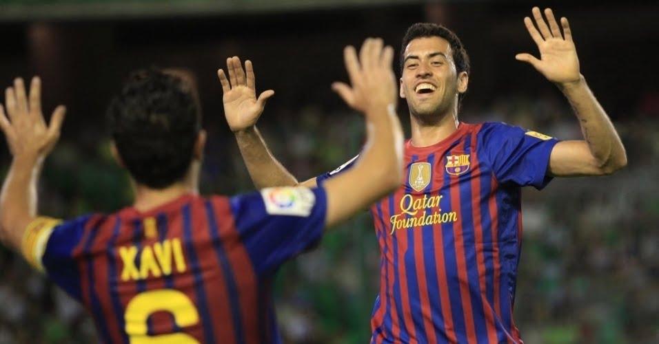 Busquets abriu o marcado no Camp Nou Fonte: imguol.com