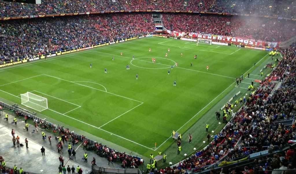 Benfica encontrou o Chelsea na final da Liga Europa em 2013 Fonte: Syrcro, Wikipedia