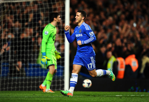 Hazard marcou o segundo golo do Chelsea frente ao Tottenham Fonte: zimbio.com