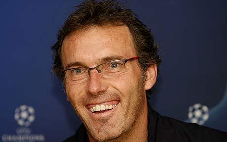Laurent Blanc é o timoneiro da equipa parisiense. Fonte: The Daily Telegraph