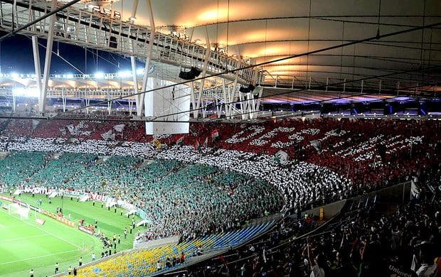 Torcida tricolor ao rubro no Maracanã Fonte: globoesporte.globo.com