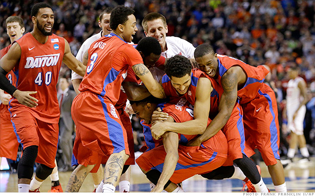 "Dayton a ""Cinderella team"" deste ano Fonte: Frank Franklin/AP"