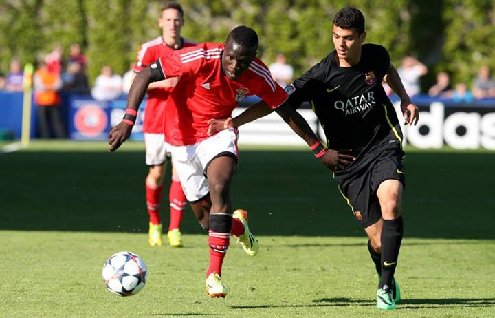 Romário Baldé e Nuno Santos são duas das unidades mais influentes nesta equipa Fonte: Facebook oficial do Sport Lisboa e Benfica