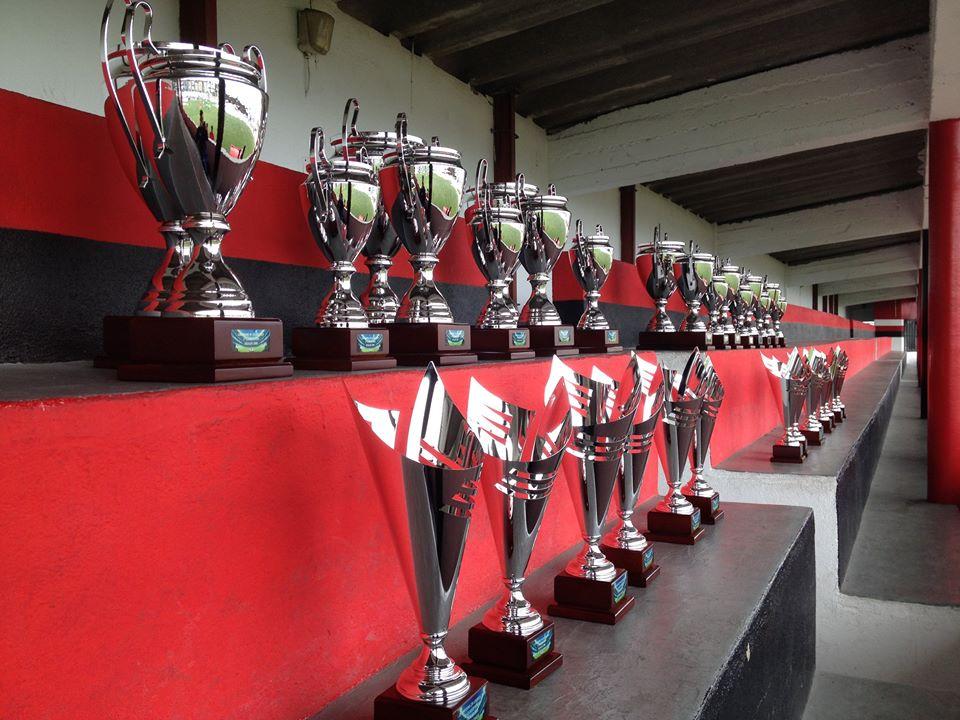 Legenda: Os troféus da Champions In Loures.   Fonte: Facebook- Champions InLoures