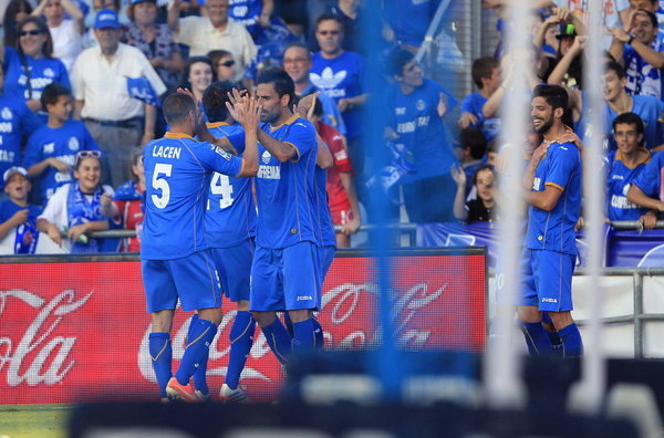 Getafe festeja a permanência Fonte: Mundo Deportivo