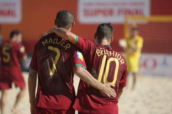 Madjer e Belchior são as maiores figuras da seleção nacional Fonte: FPF