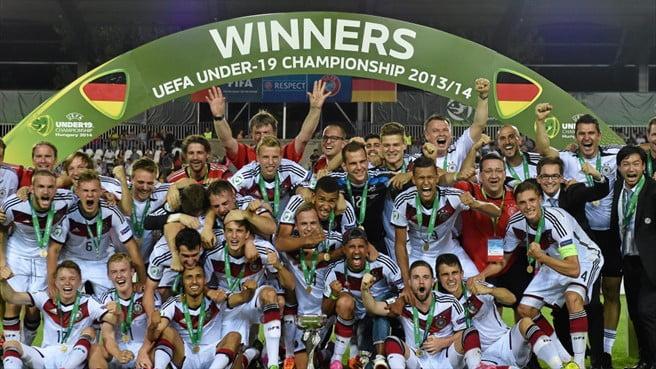 A Alemanha venceu e convenceu neste Euro Sub-19  Fonte: UEFA