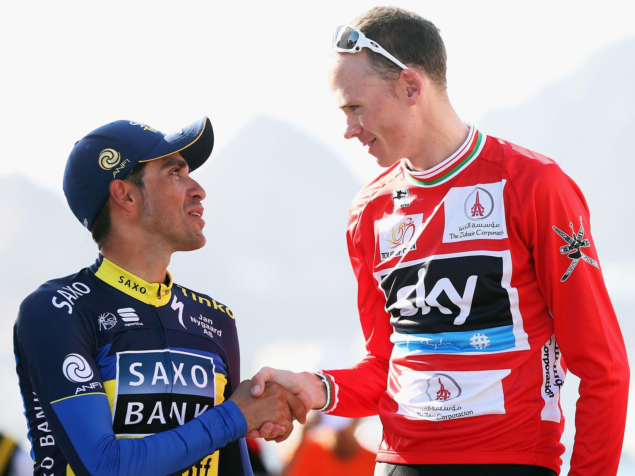 Contador e Froome podem ser, mais uma vez, as personagens principais desta história  Fonte: Independent