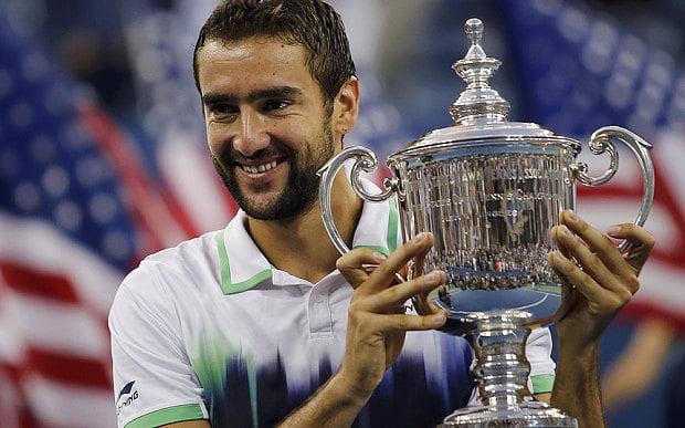Marin Cilic com o troféu do US Open 2014 Fonte: The Telegraph