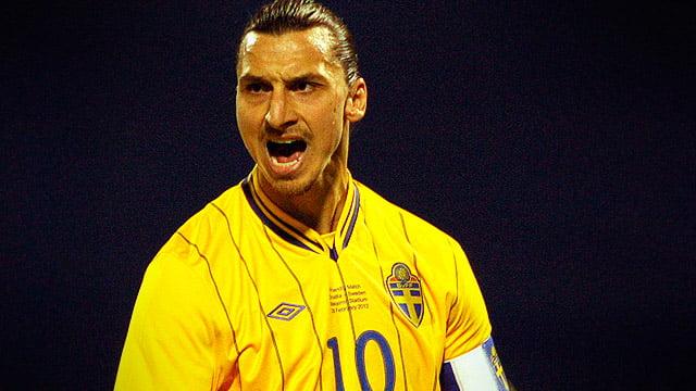 """Zlatan é o líder da """"modesta"""" Suécia  Fonte: playbackfc.com.br"""
