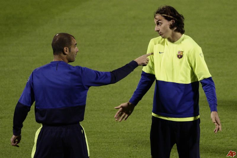 Os desentendimentos com Guardiola afastaram Zlatan do Camp Nou  Fonte: 4dfoot.com