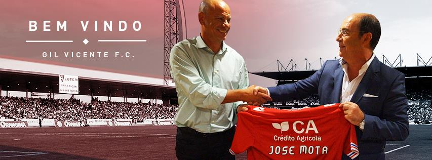 José Mota tem pela frente uma das tarefas mais difíceis da sua carreira Fonte: Gil Vicente FC