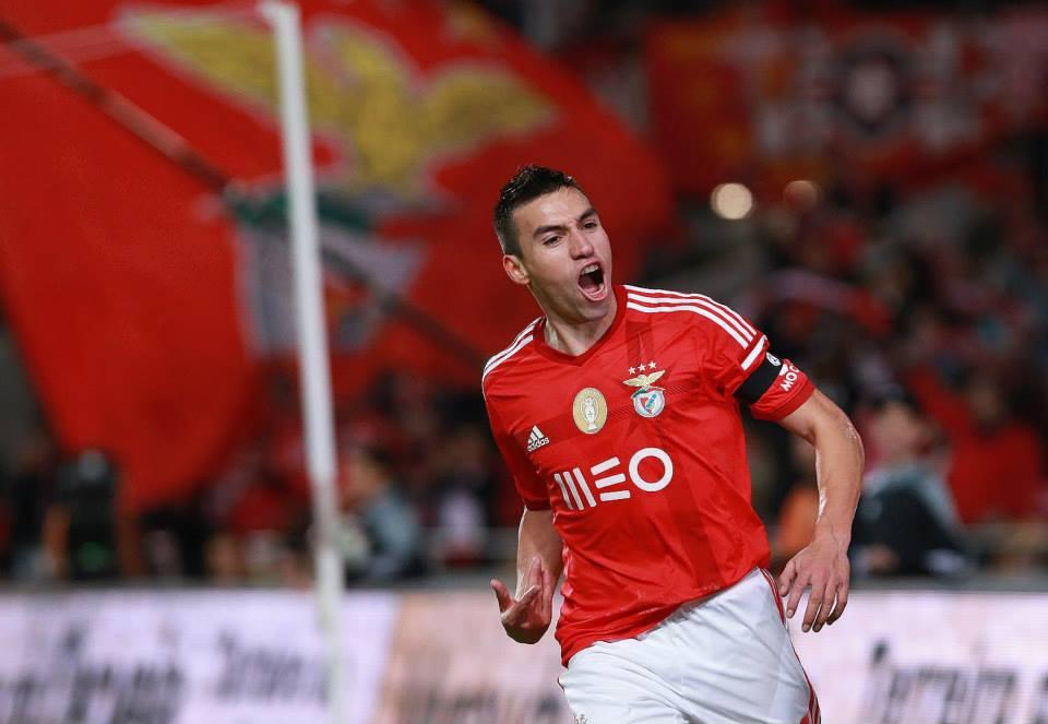Nico Gaitán apontou o único golo da partida Fonte: Facebook do Sport Lisboa e Benfica