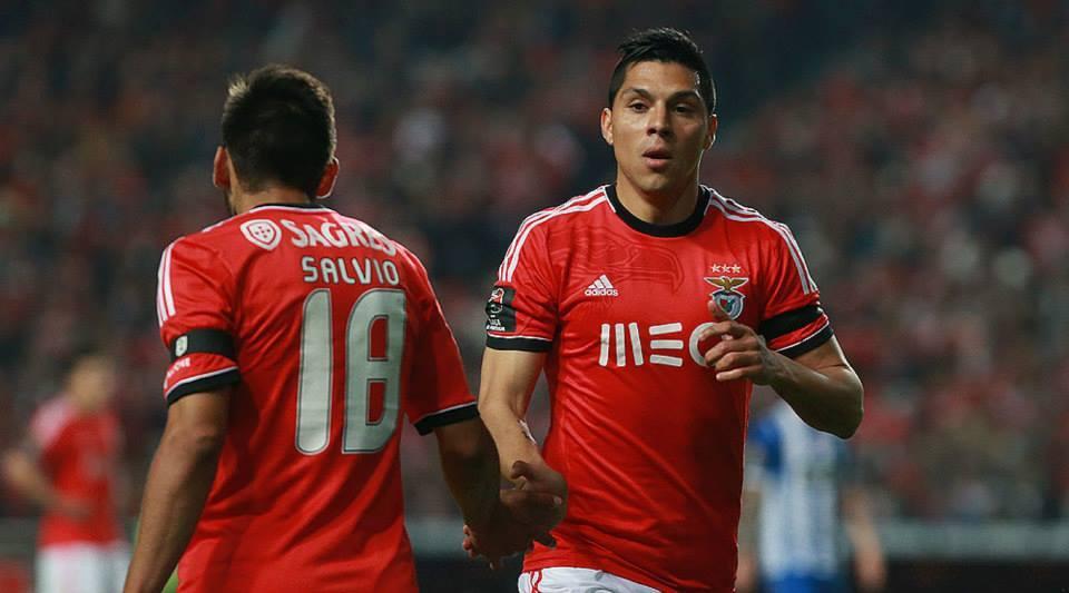 Enzo Pérez está a subir de forma Fonte: Facebook Oficial do Sport Lisboa e Benfica