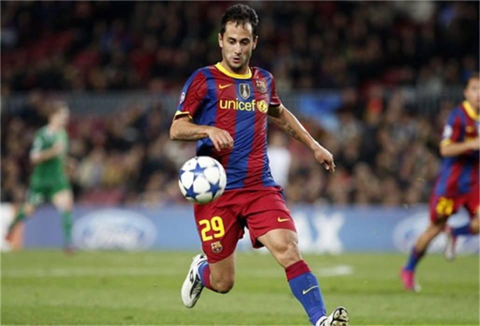 Vázquez chegou a jogar pelo Barça na Champions Fonte: Facebook de Victor Vázquez