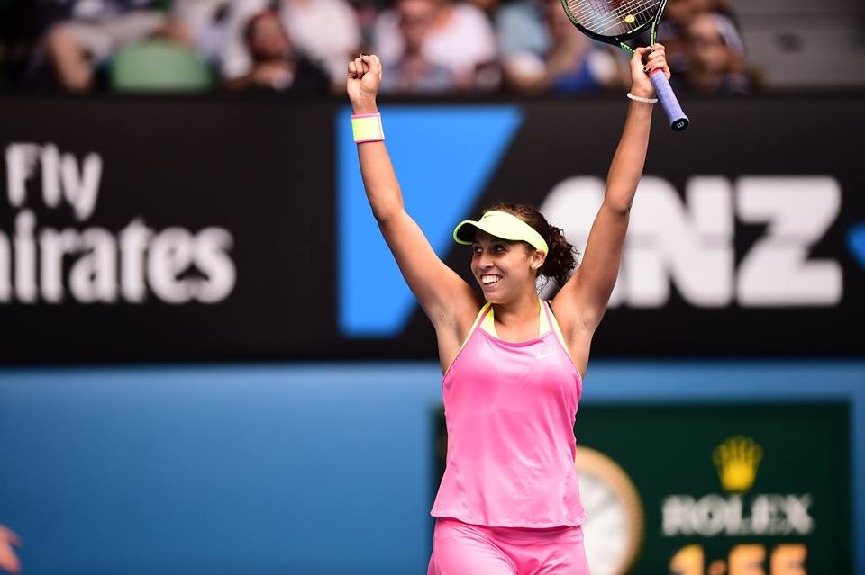 Madison Keys foi a grande surpresa do dia Foto: Facebook Australian Open