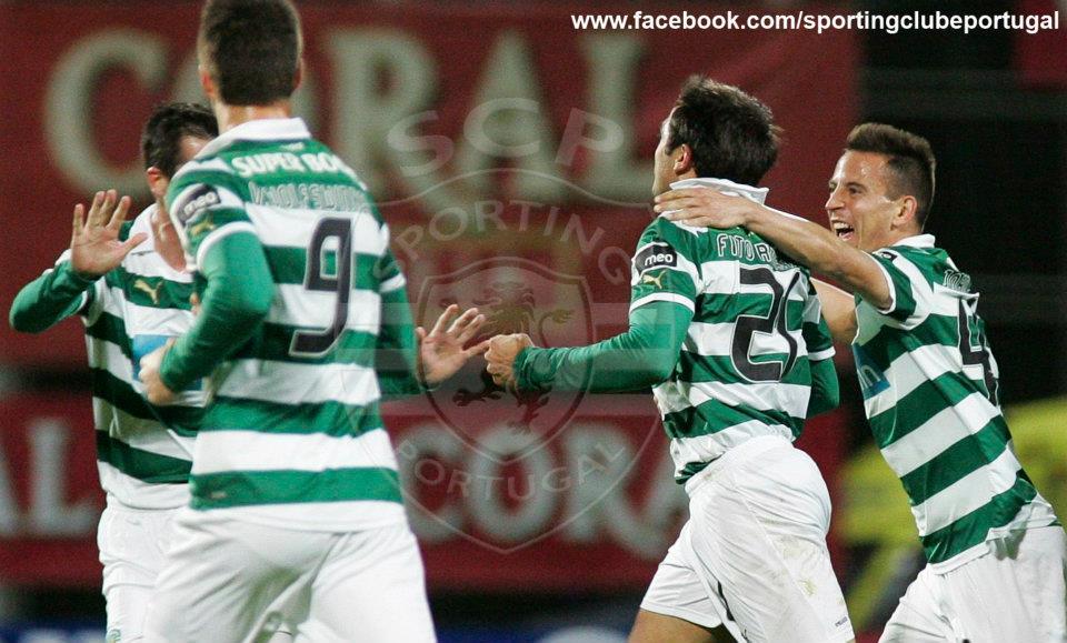 Fito, Ricky e João Pereira garantiram a última presença no Jamor, marcando os três golos na vitória frente ao Nacional (3-1). Fonte: Facebook do Sporting