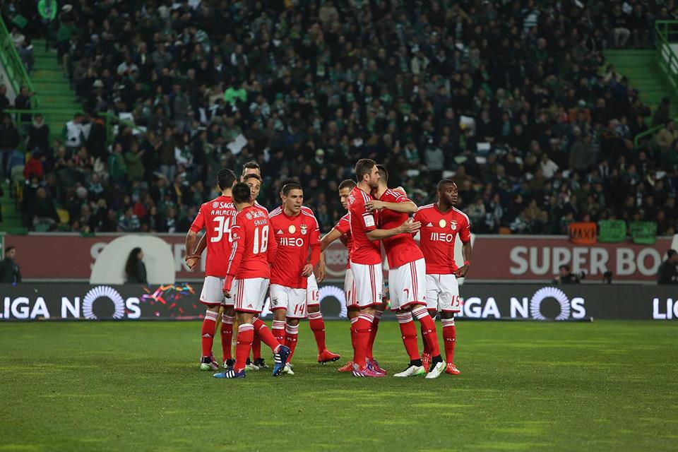 A festa de um golo tão importante; Fonte: Facebook do Sport Lisboa e Benfica