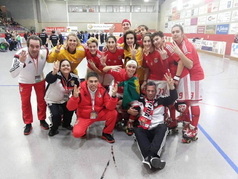 As campeãs Fonte: Facebook do Sport Lisboa e Benfica- Modalidades