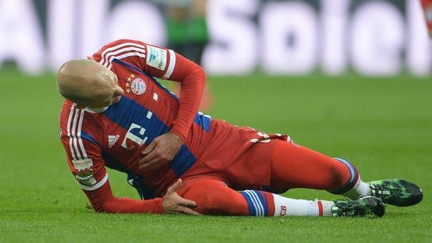 Um azar que veio na pior altura Fonte: Facebook de Robben