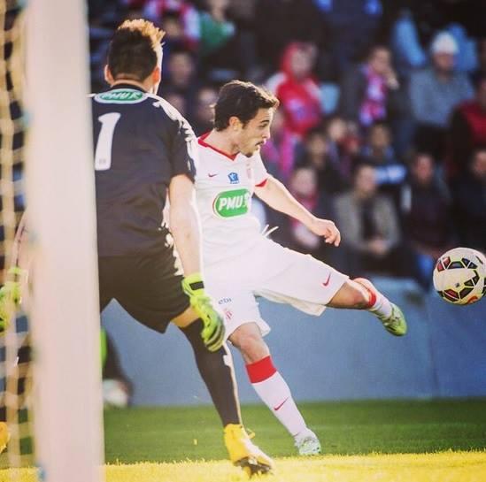 O jovem português já leva 6 golos na Ligue 1 Fonte: Facebook de Bernardo Silva