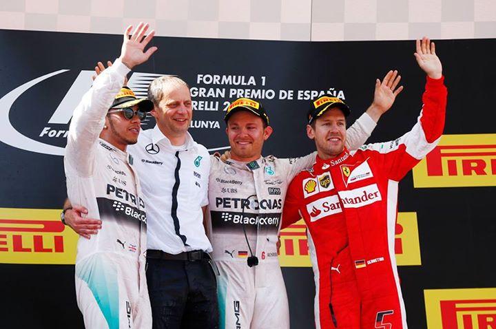 Os 3 primeiros Fonte: Facebook da Mercedes AMG Petronas