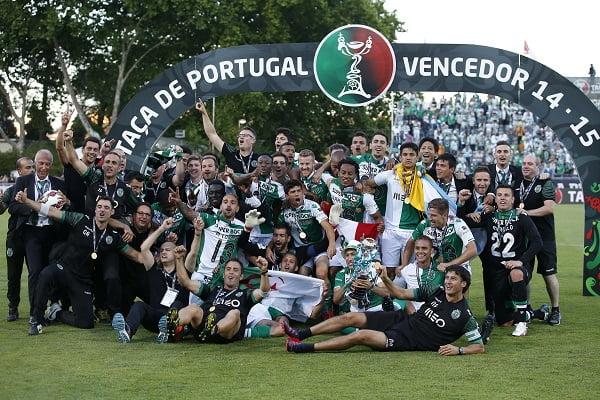 O Sporting somou a 16.ª Taça de Portugal da sua história Fonte: FPF