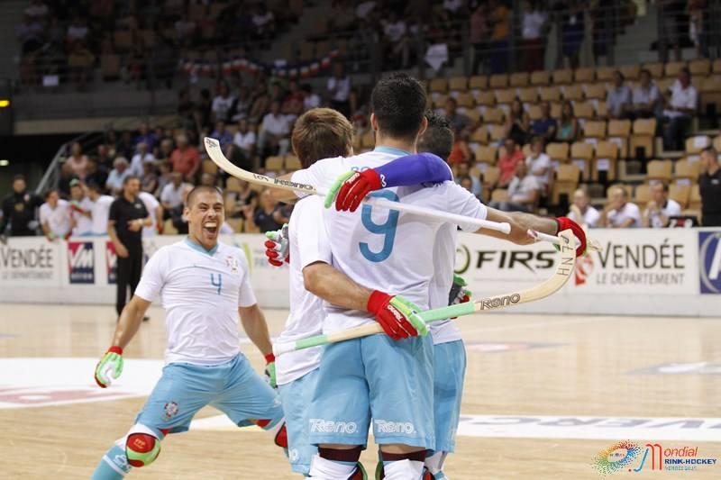 Portugal não deu hipóteses Fonte: Vendée 2015 FIRS World Rink-Hockey Men Championships (Facebook)