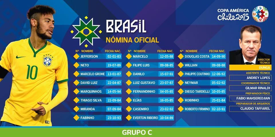 O Brasil quer apagar a imagem deixada no Mundial Fonte: Facebook da Copa América