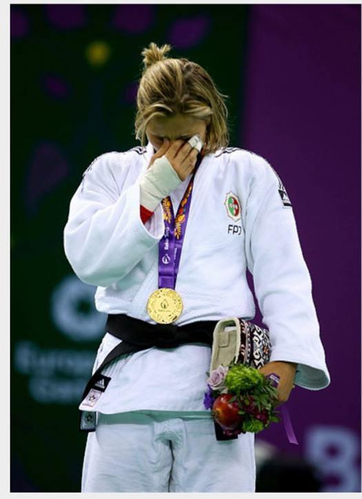 Além do título nos Jogos Europeus Telma Monteiro venceu ainda o seu 5º europeu Fonte: Facebook da atleta
