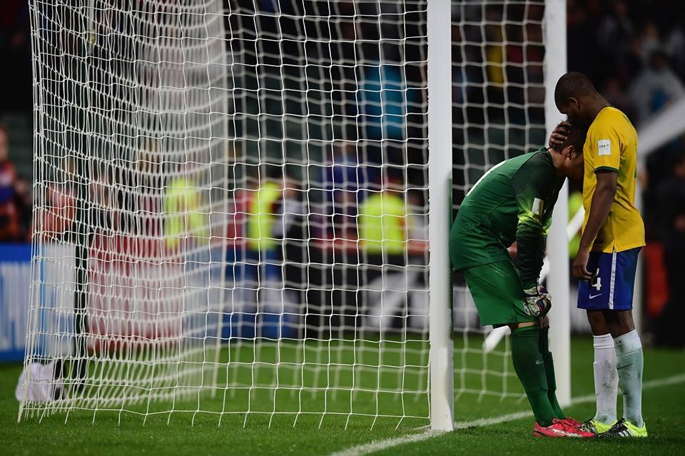 A tristeza brasileira Fonte: Facebook do Mundial de sub-20