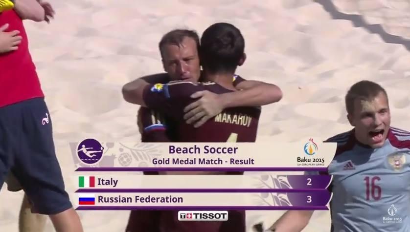 A Rússia dominou o medalheiro e venceu a primeira presença do Futebol de Praia numa grande competição