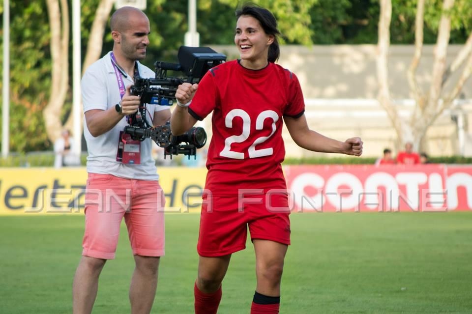 Joana Flores foi a autora do golo que colocou o Clube Futebol Benfica no pódio do Jamor. Fonte: Clube Futebol Benfica Feminino