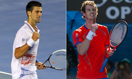 Andy Murray e Novak Djokovic reeditam, desta forma, a final do Australian Open 2015 Fonte: Facebook Oficial de  The Guardian