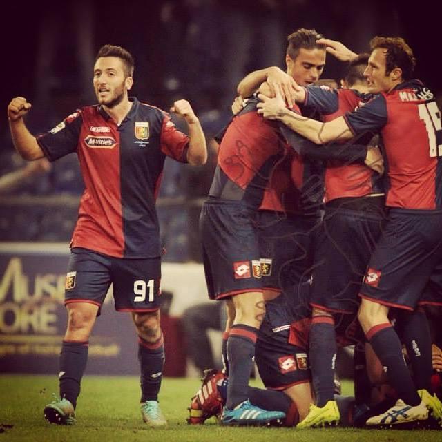 Bertolacci foi um dos principais responsáveis pela boa época do Génova Fonte: Página do Facebook de Andrea Bertolacci