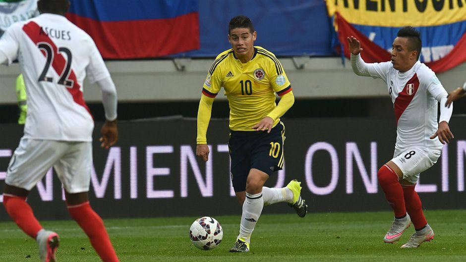 James Rodríguez é uma das figuras da Colômbia Fonte: Site Oficial da Copa América