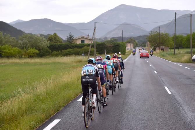 : Os 5 homens da fuga que vingou (com o Rui Costa a ser o penúltimo ciclista da imagem) Fonte: Cycling News