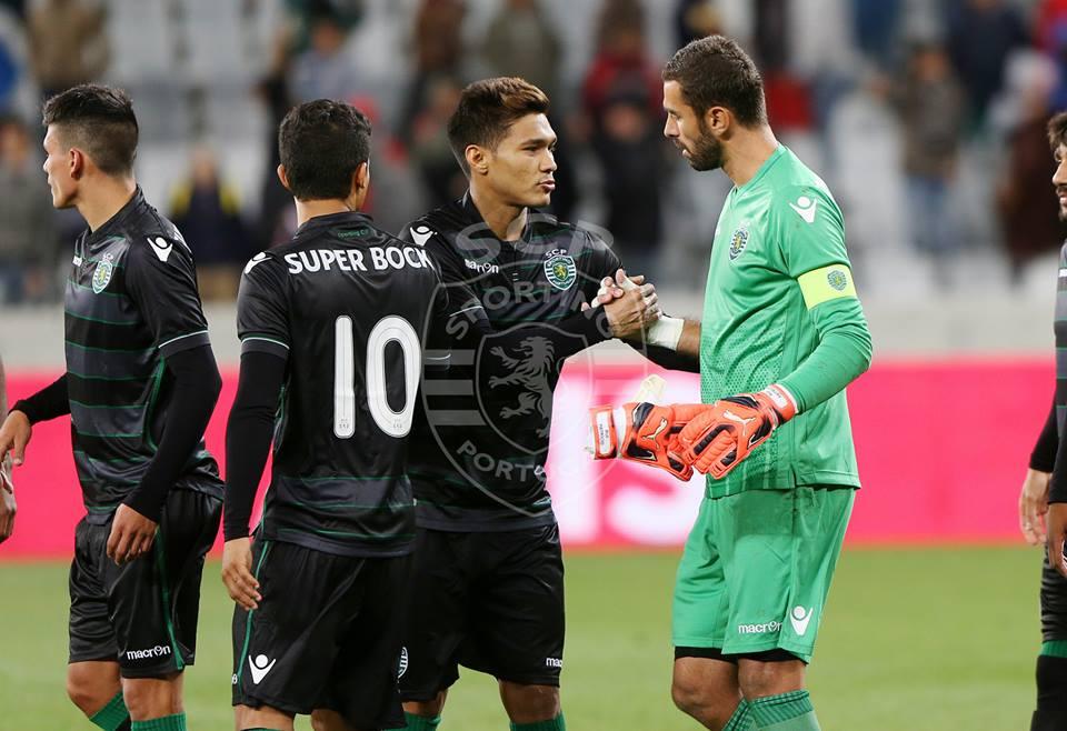 Teo Gutiérrez mostrou bons pormenores Fonte: Facebook Oficial do Sporting/César Santos