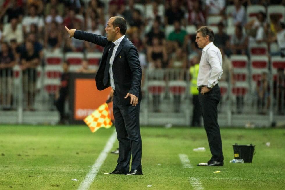 Leonardo Jardim não hesitou em fazer duas alterações na primeira parte para contrariar a apatia da sua equipa Fonte: Site Oficial As Monaco