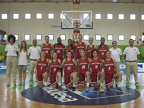 A comitiva que ficou em sexto lugar no Europeu sub20