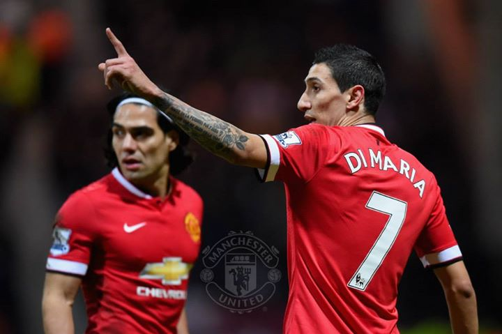 A dupla Di María/Falcao defraudou todas as expectativas  Fonte: Facebook do Manchester United