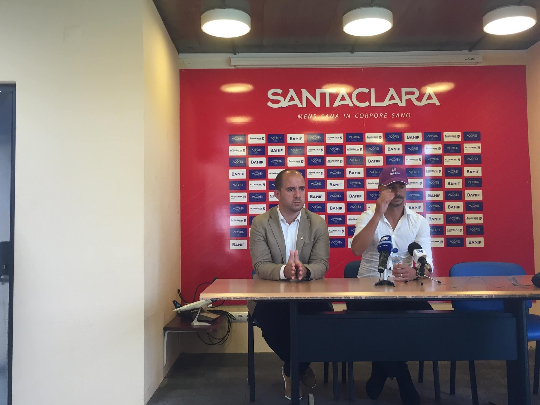 Rui Melo juntou-se ao treinador Filipe Gouveia na Conferência de Imprensa