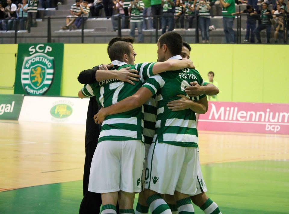 O Sporting entrou a perder mas conseguiu dar a volta Fonte: Facebook Futsal Sporting