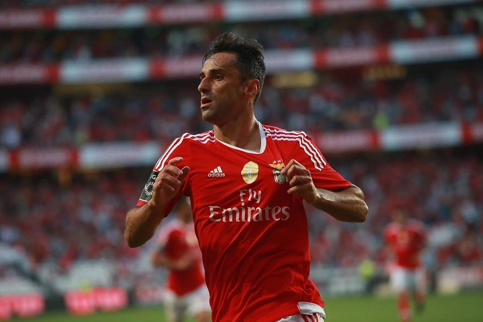 Jonas bisou e voltou a ser decisivo; Fonte: Facebook do Sport Lisboa e Benfica