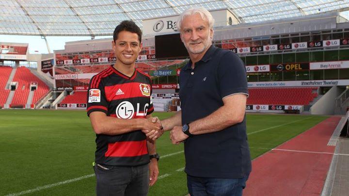 Chicharito foi reforço de última hora para o Bayer Fonte: Facebook do Bayer Leverkusen