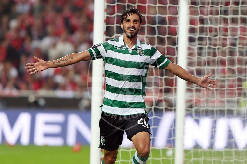 Apesar de ter estado em dúvida, o reforço Bryan Ruiz não queria perder o derby por nada. Foi uma peça-chave na equipa, culminando com a marcação de um dos três golos. Fonte: Sporting Clube de Portugal